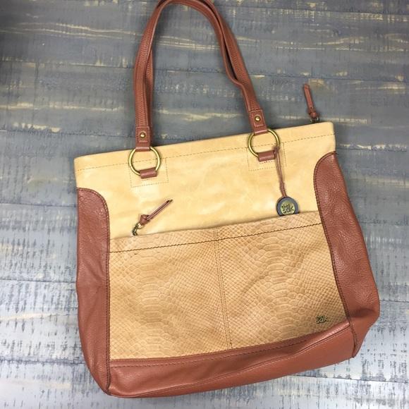 90751ce7067 The Sak Brown/Carmel Leather Iris Tote